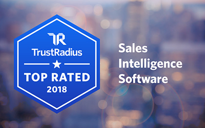 TrustRadius Top Rated 2018 Sales intelligence Sodtware